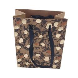 Presentpåse Löv Guld 2-pack Black
