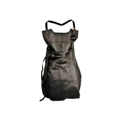 Skinnförkläde äkta läder svart Svart