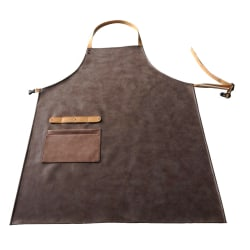 Skinnförkläde imitation Brun konstgjort läder Brun