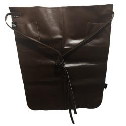 Skinnförkläde Midjemodell Skinn brunt förkläde Brun one size