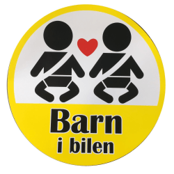 Stickers Barn i bilen 19,5cm MultiColor