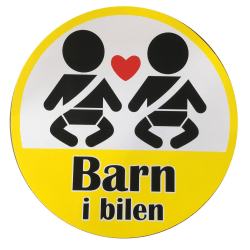 Stickers Barn i bilen 9,5cm MultiColor