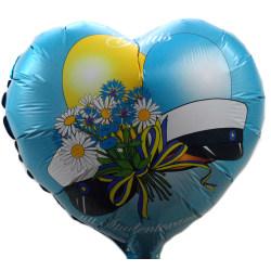 Student Folieballong 45cm ballong hjärta Blå