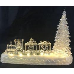 Tåg Jul LED vatten/ljus USB 28 cm MultiColor