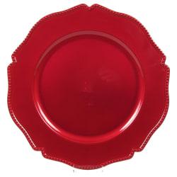 Undertallrik 6-pack Fat röd multifärg