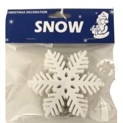 Vackra snöflingor med krok Jul 6-pack 10 cm Vit