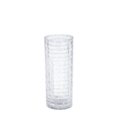 Vas klart glas H20 cm Transparent