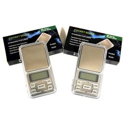 Pocketvågar 200g/0.01g + 500g/0.01g - Batteri ingår – 2 st Vågar