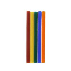 10 st/förp Färgat Limstift för elektrisk limpistol  mini 20W flerfärgad