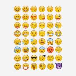192 st Emoji Stickers klistermärken  (4 sidor)