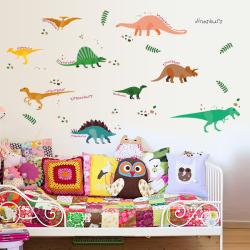 Dinosaurier vägg klistermärke