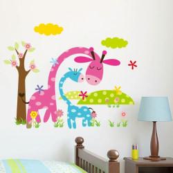 Väggdekor för barnrum giraffer