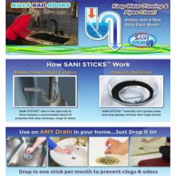12-pack Sani sticks | Bort med dålig lukt i avloppen!