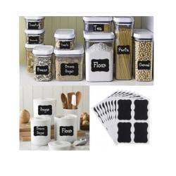 36-Pack Svarta tavlan-etiketter, griffeltaveletiketter