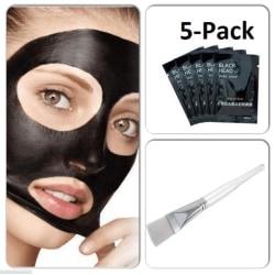 Ansiktsmask 5-PACK + Ansiktsmask Borste+ Pormaskklämmare