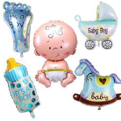 Babyshower 5-pack ballonger Kille