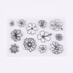 #08 Clear Stamp Stämplar till Scrapbooking Blommor