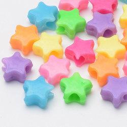 100 st akrylpärlor Stjärnor