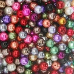 100 st Vaxade Glaspärlor 6mm Mix