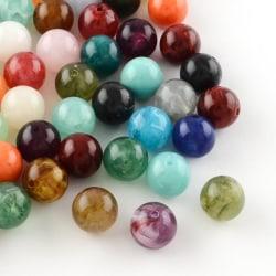135 st akrylpärlor 8mm  Gemstone