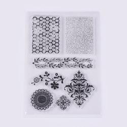 #19 Clear Stamp Stämplar till Scrapbooking Mandala
