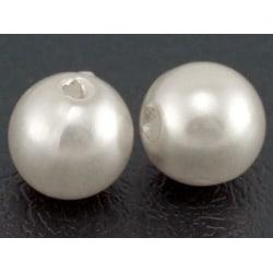 200 stycken vita akrylpärlor i pärlimitation 8mm  Akryl pärlor
