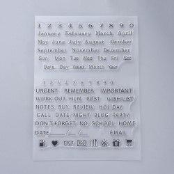 #25 Clear Stamp Stämplar till Scrapbooking Bullet Journal