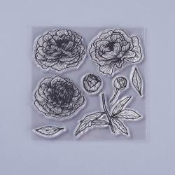 #26 Clear Stamp Stämplar till Scrapbooking Blommor