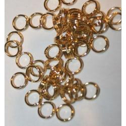 300st 5mm Guldfärg Dubbla Jumprings