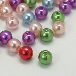 400 stycken akrylpärlor i pärlimitation 8mm  Akryl pärlor