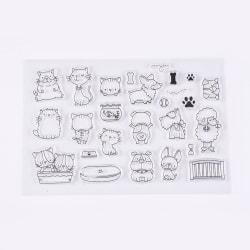 #11 Clear Stamp Stämplar till Scrapbooking Katt och Hund