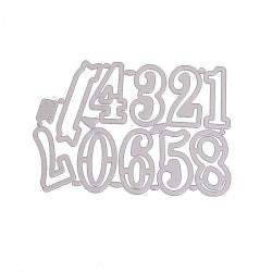Stans / Dies till Scrapbooking Siffror 10 delar