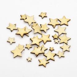 Trädekorationer Stjärnor 100 st