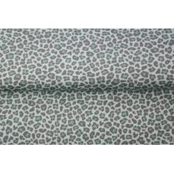 Trikå Mönstrad Leopard Grön 0,7 meter