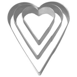 CJ Kakmått / Hjärtan utstickare 3-pack Hjärtan