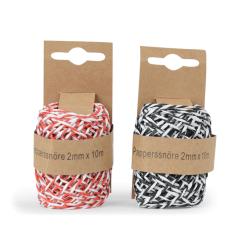 Dekorationsband 2-pack 2 färger Röd