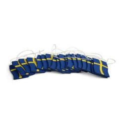 Girlang med Svensk Flagga  Blå