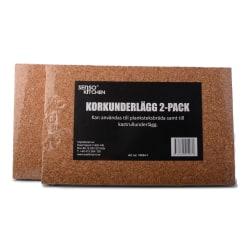 Korkunderlägg 2-pack till planksteksbräda Natur