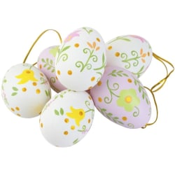 Påsk ägg 6 st dekoration Cult Design  multifärg