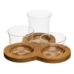 Sagaform Oval Oak serveringsset 4 delar
