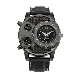 Annorlunda klocka i svart med silikonarmband Svart