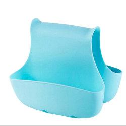 Dubbelsidig förvaring i silikon - diskho etc Ljusblå