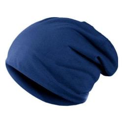 Enkel mössa / beanie - Olika färger Blå