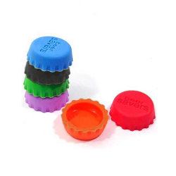 """Flaskkork i silikon 6-pack - """"Beer Saver"""" olika färger"""