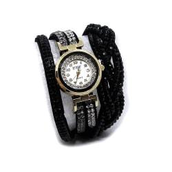 Glittrig damklocka med virat armband v2 - Olika färger Svart