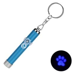 Kattleksak - ljuspekare med tassmotiv - Flera färger Blå