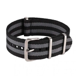 Klockarmband Natoband / nylonband 18 mm olika färger grå