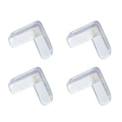 L-formade transparenta hörnskydd barn 10-pack