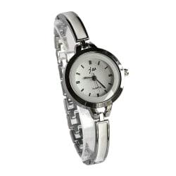 Nätt damklocka med smalt armband - Guld / Silver Silver