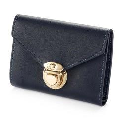 Plånbok dam med guldknäppe - Olika färger Svart